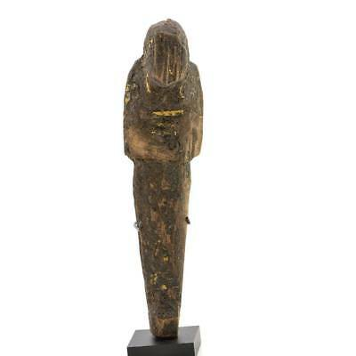 A large Egyptian Wood and Resin Shabti, 20th Dynasty, ca. 1187-1069 BC