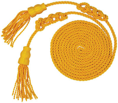 "Flag Gold Indoor Parade Cord & Tassels 108"" Length 3 1/2"" Tassels"
