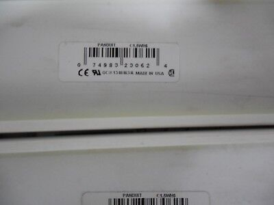 """Panduit, C1.5Wh6, 1 1/2"""" X 72"""" Duct Cover, 1 Lot Of 2"""