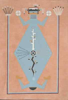 Mother Earth - native american indian navajo sand painting memory blanket