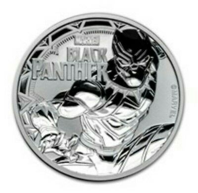 2018 Tuvalu 1oz Silver $1 Marvel Series Black Panther