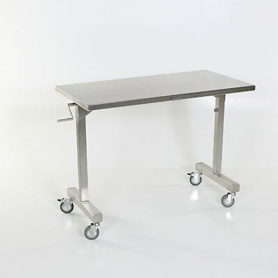 "New MCM-532 Height Adjustable Stainless Steel Straddle Table 24""W x 48""L"