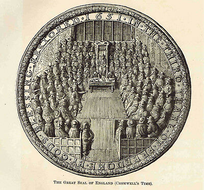 GREAT SEAL OF ENGLAND & GENERAL GEORGE MONK - 1882 Page of European History
