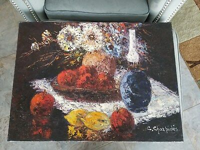 Christophe Charppides (French, 1902-1992) Original Oil Painting on Canvas
