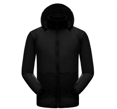 Men Women Waterproof Jacket Outdoor Lightweight Sport Hooded Rain Coat US