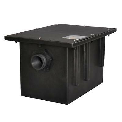 BK Resources PGT-20 20 lb Plastic Grease Trap Interceptor 10 Gallons Per Minute