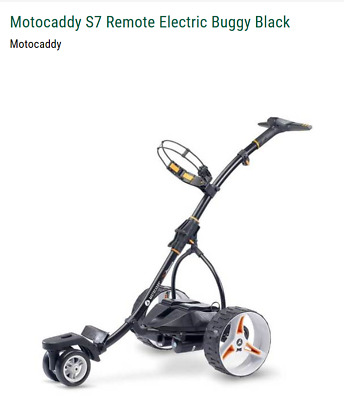 Motocaddy 'S7 Remote' Motorised Golf Buggy - 36 Hole Lithium Battery - Black