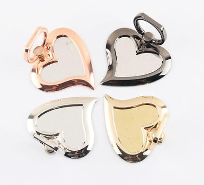 Universal 360 Rotating Finger Ring Stand Holder for Cell Phone - MIRROR HEART