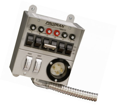 Reliance Controls Corporation 20216A Pro/Tran 6-Circuit Indoor Transfer Switch f