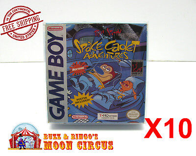 10x NINTENDO GAME BOY CLEAR PROTECTIVE BOX PROTECTOR SLEEVE CASE -FREE SHIPPING!