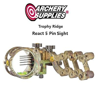Trophy Ridge React Sight 5 Pin - CAMO - Left Hand