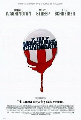 The Manchurian Candidate Original D/S Advance Rolled Movie Poster 27x40 NEW 2004