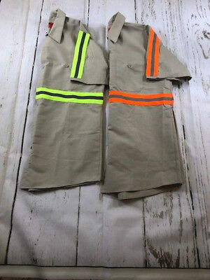 NEW RedKap Reflective Enhanced Visibility Work Shirt Short Sleeve 2 Pockets HiVi