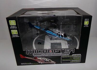 Micropter RC Wireless Indoor Helicopter Propel 80 Foot Range - Brand New In Box