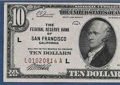 1929  $10 Frbn ♚♚San Francisco♚♚ Pmg Choice About Unc 58 Epq   Only 44 Known!!!