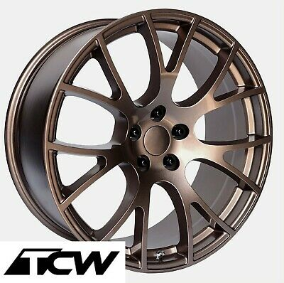 22 inch staggered Dodge Challenger SRT Hellcat Replica Copper Wheels Rims 5x115
