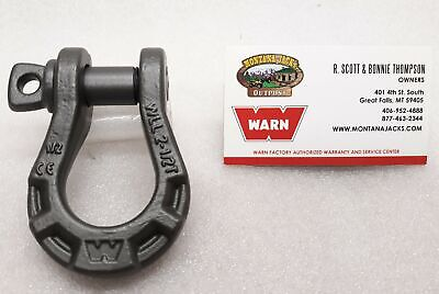 "WARN 92092 Epic 1/2"" Premium Shackle, 5,000 lb rating, 1/2"" Pin Diameter"
