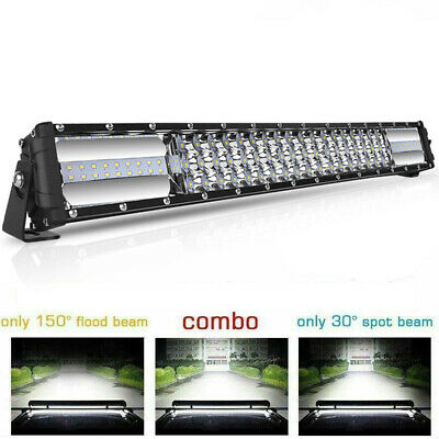 QUAD ROW 22inch 2688W LED Curved Light Bar Offroad Fog Driving Combo Truck Jeep