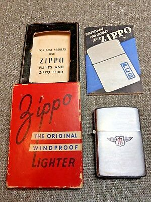 RARE Zippo Lighter Vintage 1947 to 1949 Slim Box Band Pamplet 2032695 Matchless