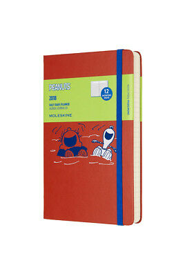 Moleskine - 2018 Limited Edition Peanuts Diary - Daily - Large - Coral Orange
