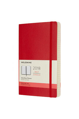 Moleskine - 2018 Soft Cover Diary - Daily - Large - Scarlet Red