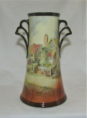 Vintage Royal Doulton Vase Series Ware D3647 Countryside Twin Handle 1913+