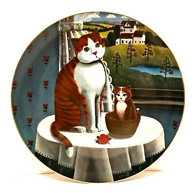 Collector Cat Plate Eyes of The Seasons Spring 1981 Limited Edition Numbered