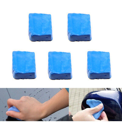 5pcs Blue Magic Car Cleaning Clay Bars Auto Remove Marks Detailing Wash Cleaner