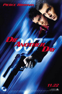 Die Another Day (2002) original movie poster advance vers B single-sided rolled