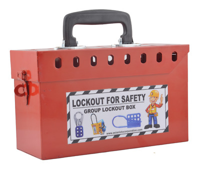 Group Lockout Box Red 16 holes without material
