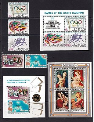 Penrhyn 1984 LA Olympic Games, Ausipex Exhibition, Christmas MNH
