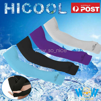 Cooling Sport Arm Stretch Sleeves Sun UV Protection Covers Golf Cycling