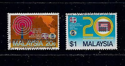 MALAYSIA 1984 20th Anniversary Asia-Pacific Broadcasting Union, set of 2, used