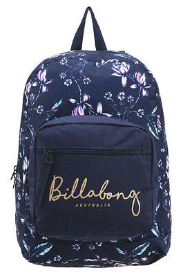 Billabong Girls New Backpack Bag School Womens Ladies Gym Uni Navy Nightshade