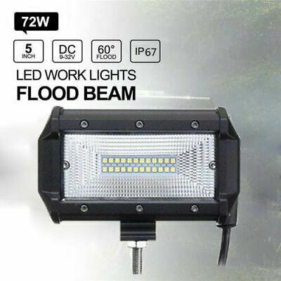 72W LED Work Flood Square Spot Light 12V 24V Off Road Truck Car Boat SUV Lamps