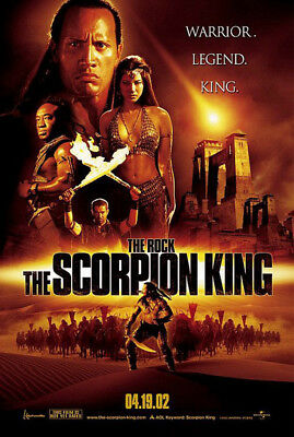 The Scorpion King (2002) original movie poster advance version B s-sided rolled