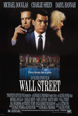 Wall Street (1987) original movie poster single-sided rolled