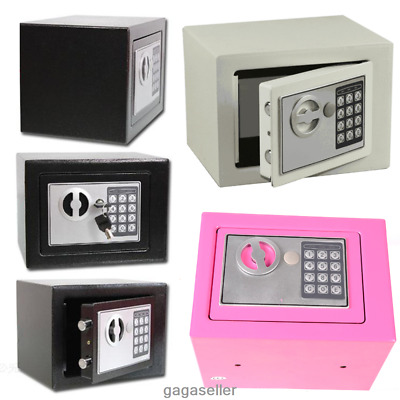 DIGITAL STEEL SAFE ELECTRONIC SECURITY HOME OFFICE MONEY CASH SAFETY BOX 3 COLOR