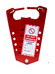 BrandNew Asian Loto Label Lockout Hasp with 10 Holes, ALC-LLH-R11 (Pack of 10)