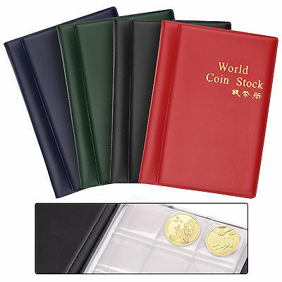 Hot 120 X Coins Collection Holders Storage Money Penny Pocket Coin Album Book