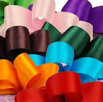 5 Metres of 25mm High Quality Single Sided Satin Ribbon - All Colours