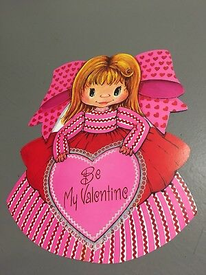 Retro Vintage Valentine's Day Decorations Cardboard Die Cut Eureka Girl Dennison