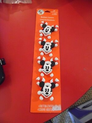 Mickey Mouse Candy Cane Button Covers - Hallmark - Set of 4