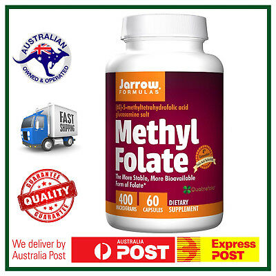 Jarrow Formulas, Methyl Folate, 400 mcg, 60 Capsules - AUS STOCK FAST SHIP!