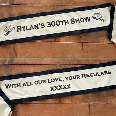 Luxury 3 Tier Adult Personalised Sash -Birthday, Hen Party, Pageant, Competition