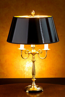 kleine bouillotte lampe beistelllampe empire bouilotte messing 2 flammig schmal eur 120 00. Black Bedroom Furniture Sets. Home Design Ideas
