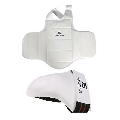 Karate Chest Guard Body Waist Protector Vest + Groin Guard Protector MMA Cup