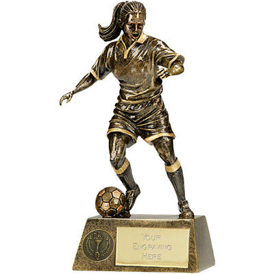 Football Soccer Trophy 3 Sizes Available Engraved Free Female Player Lady Girl