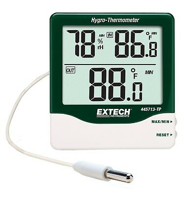 Extech Big Digit Indoor / Outdoor Hygro-Thermometer with Remote Probe