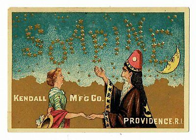Soapine - Mystic Makes Stars Spell SOAPINE - Victorian Advertising Card